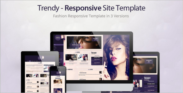 HTML Fashion Website Site Template