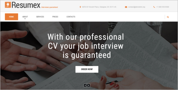HTML Job Portal Resume Template
