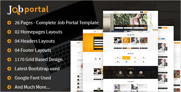 HTML Job Portal Website Template