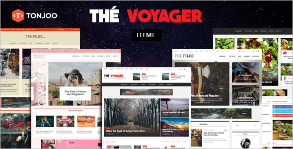 HTML Magazine Blog Template