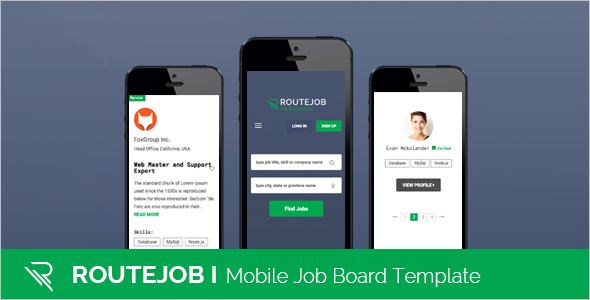 HTML Mobile Job Portal Template