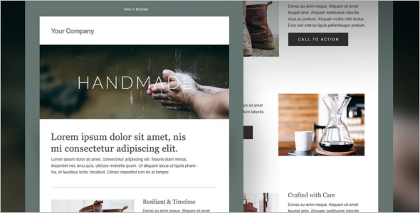 HTML Newsletter Web Template