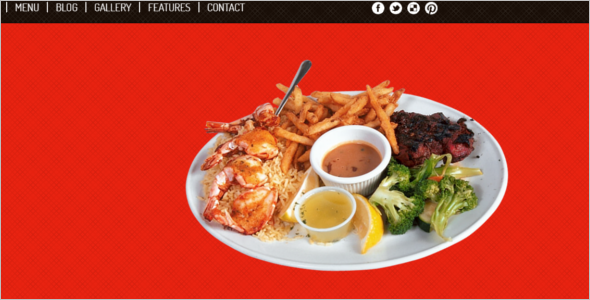 HTML Responsive Restaurant Website Template