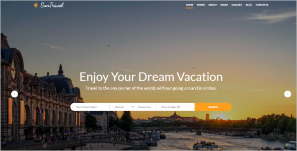 HTML Website Hotel Template