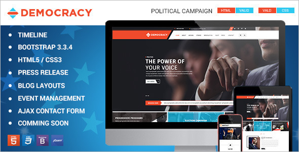 HTML5 Political Bootstrap Template