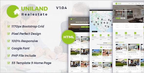 HTML5 Real Estate Template