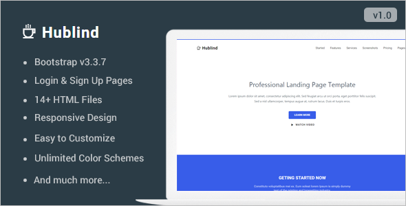 HTML5&CCS3 Landing Page Template