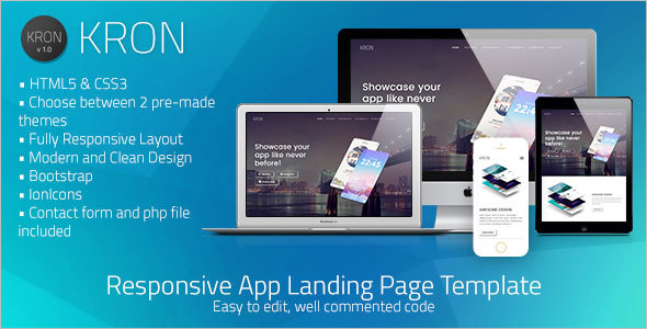 HTML/CSS App Landing Page Template