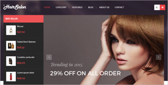 Hair Salon Prestashop Template