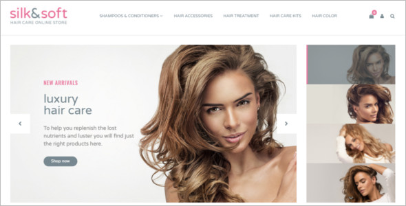 Hair Salon Responsive OpenCart Template
