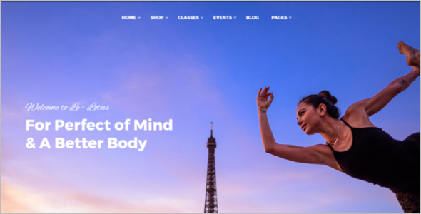 Healthy Beauty Yoga WordPress Theme