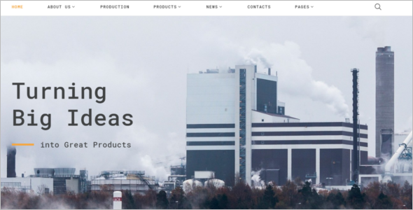 Heavy Industries Website Template
