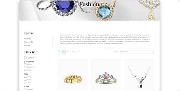 High Resolution Jewelry Pestashop Theme