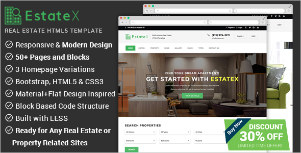 High-quality Real Estate Website Template
