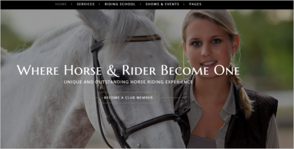 Horse Club Website Template
