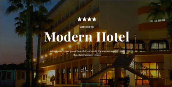 Hotel Woods Bootstrap template