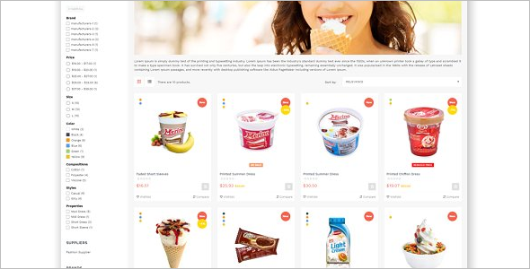Ice Cream Prestashop Theme