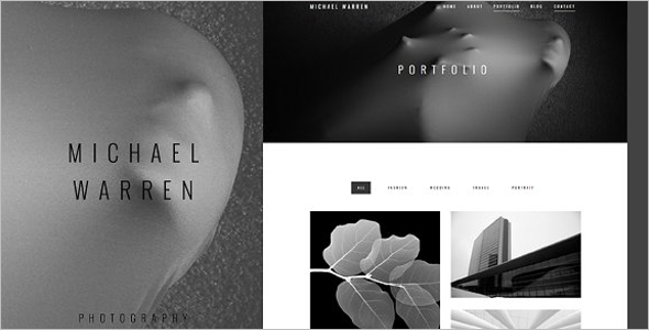 Illustration HTML Photography Template