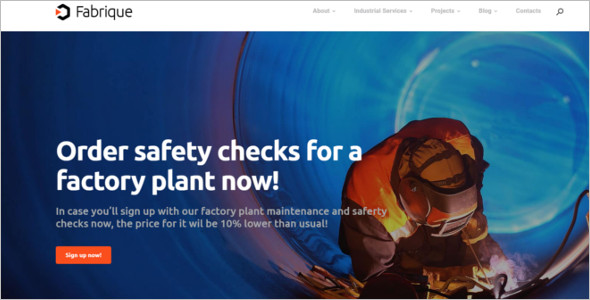 Industrial Factory WordPress Theme