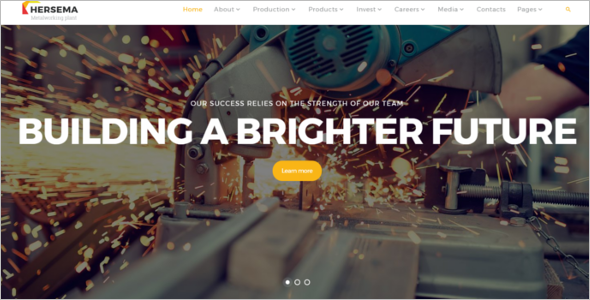 Industrial HTML Web Template