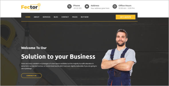 Industrial WordPress Themes