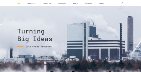 Industries Bootstrap Template