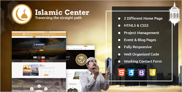 Islamic Center HTML Template