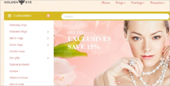 Jewellery Store Opencart Template