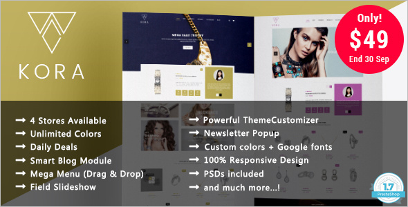 Jewelry Prestashop 1.7 Theme