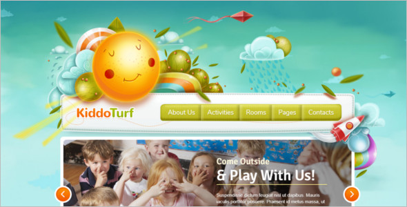 Kids Book WordPress Template
