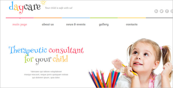 Kids Center WordPress Template