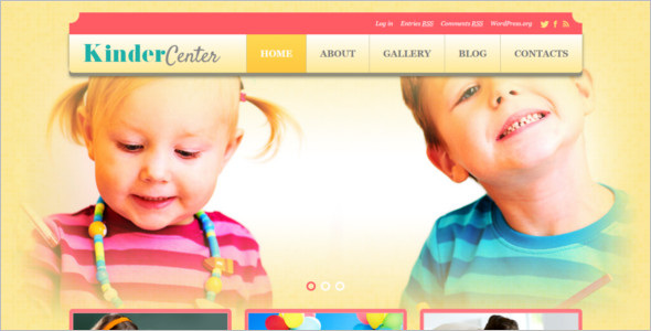 Kids Day care WordPress Template