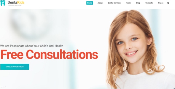 Kids Dental Web Template