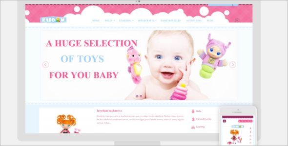 Kids Opencart Template