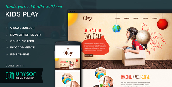 Kids Play WordPress Template