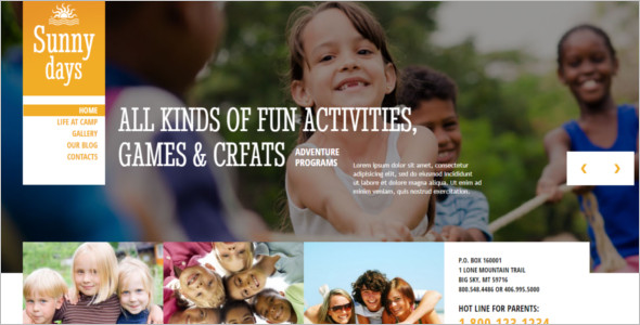 Kids Summer Camp WordPress Theme
