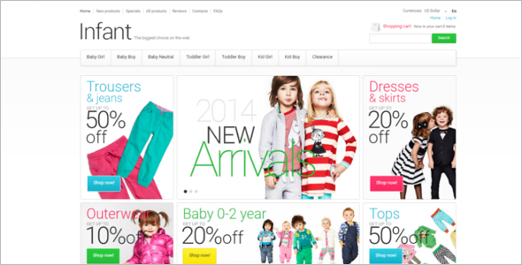 Kids Wear ZenCart Theme
