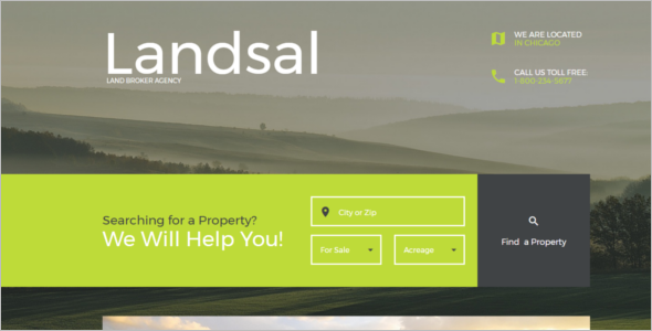 Land Broker Landing Page Template