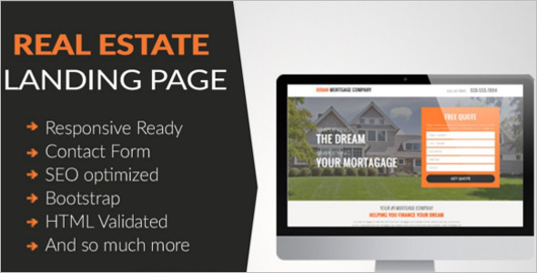 Landing Page Real Estate HTML Template