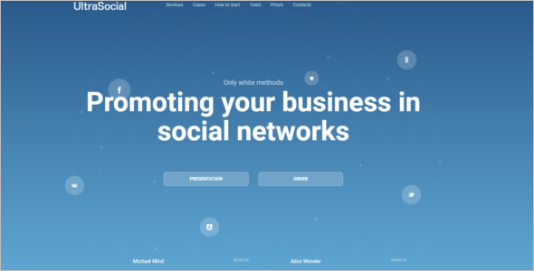 Landing Page Social Media Website Template
