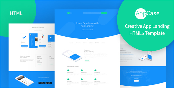 Material Design Landing Page Template