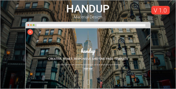 Material Responsive HTML5 Template