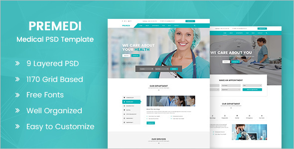 Medical Bootstrap PSD Theme