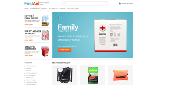 Medical Equipment ZenCart Theme