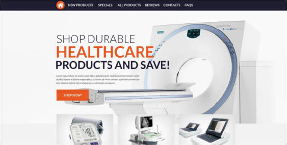 Medical Supplies ZenCart Theme