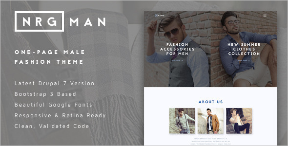 Men's Fashion Drupal Theme