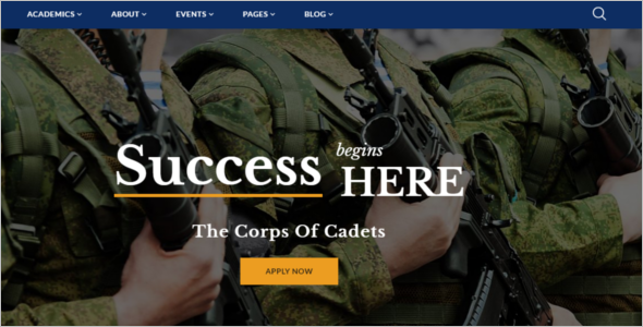 Military School Website Template