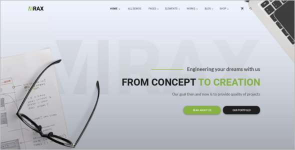 Minimal Business Blog Template