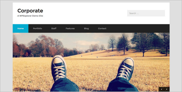 Minimal Corporate WordPress Template