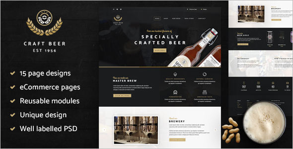 Minimal Drupal E-commerce Website Theme